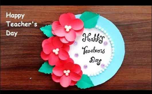 Design handcrafts for your teacher on a teachers' day