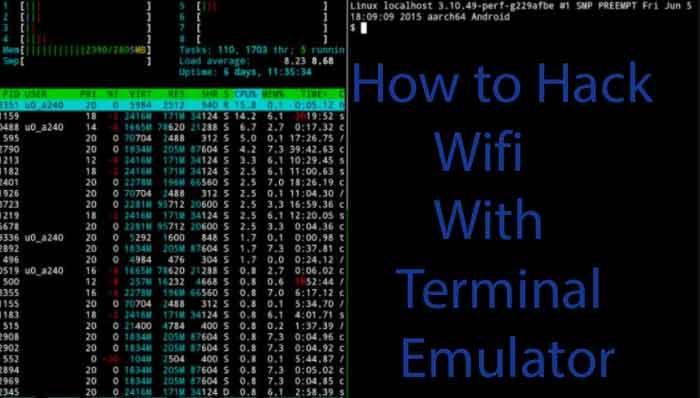 how to hack wifi using terminal emulator