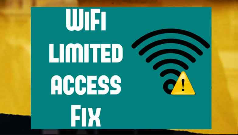 how to fix limited access to Internet