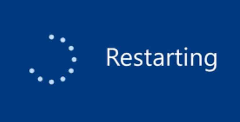 restart your pc to fix