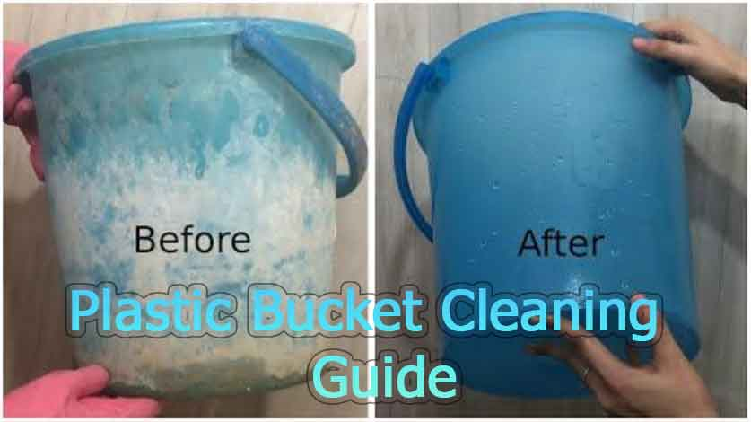 how to clean a plastic bucket