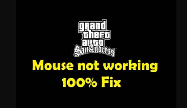 GTA san andreas mouse not working foxed in windows 8.1