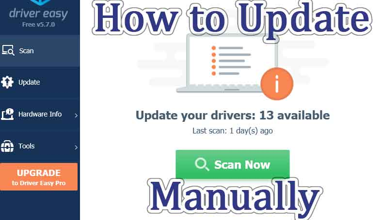 how to update drivers manually using driver easy tool
