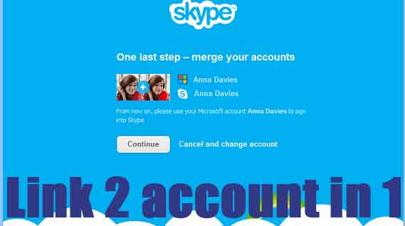 how to marge skype with microsoft account